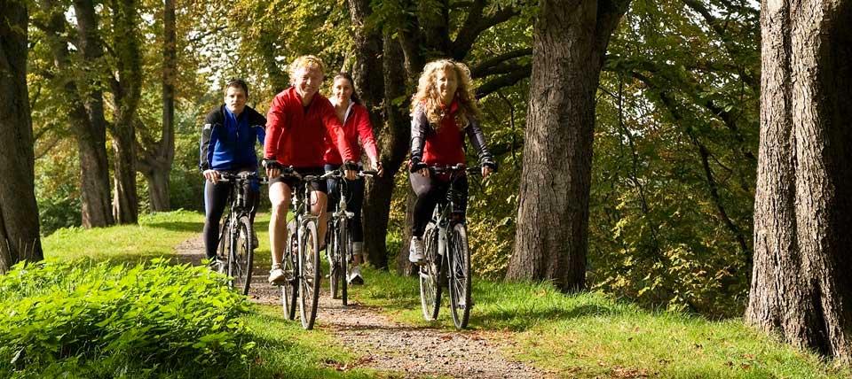 Radfahrer am Niederrhein © blickwinkel/S. Ziese