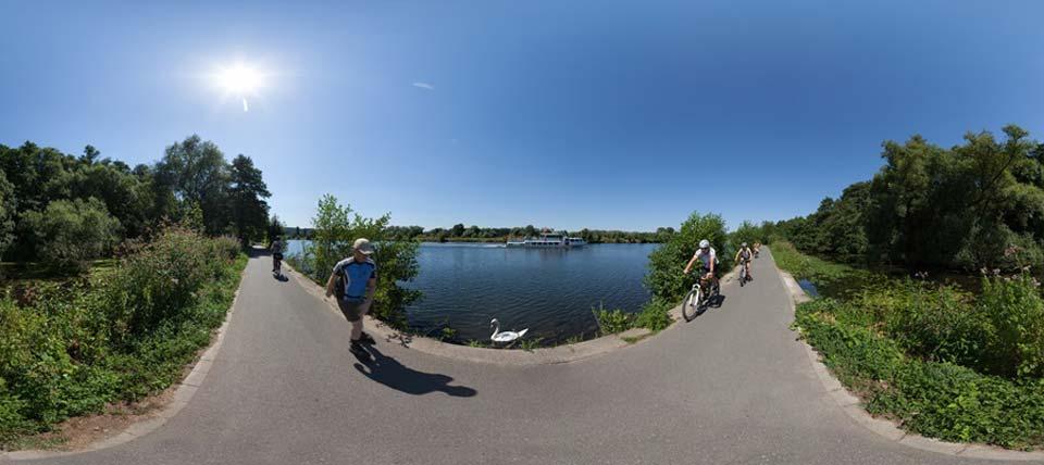 Panoramafoto in der Ruhraue @ NABU NRW